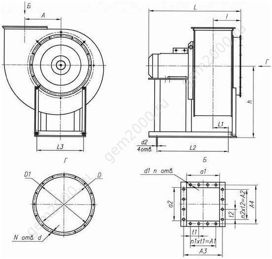 Вентиляторы ВЦ14-46, ВР 300-45, ВР 14-46  промышленные центробежные