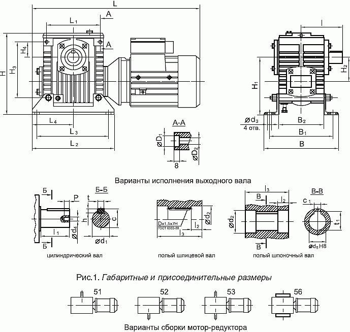 Мотор-редукторы 2МЧ-40, 2МЧ-63, 2МЧ-80